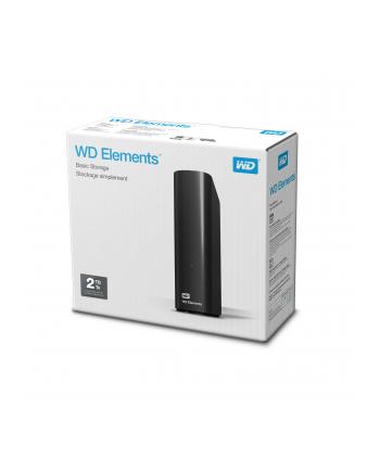 Dysk zewnętrzny WD ELEMENTS DESKTOP 2000GB 3 5  USB 3.0 USB 2.0 Czarny WDBWLG0020HBK