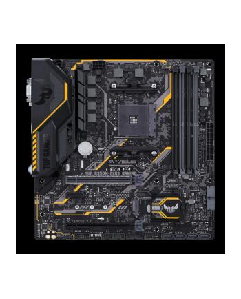Asus TUF B350M-PLUS GAMING AM4 B350 AMD B350, AMD AM4, 4x DIMM DDR4, 1x PCIe 3.0/2.0 x16, 1x PCIe 2.0 x16, 1x PCIe 2.0 x1, 4x SATA III, M.2, PS/2, RJ-45, DVI-D, VGA, HDMI, USB 2.0/3.1, mATX, 244x244 mm