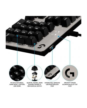 Klawiatura przewodowa Logitech G413 Gaming USB srebrna