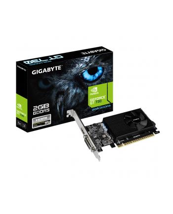 GigaByte GF GV-N730D5-2GL PCIE 2 LP GeForce GT 730, 2048 MB, GDDR5, 64-bit, 5000 MHz, DL DVI-I, HDMI, 14.67x149.88x68.9 mm