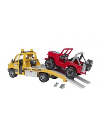 MB Sprinter pomoc drogowa + Jeep i sygnalizacja BRUDER