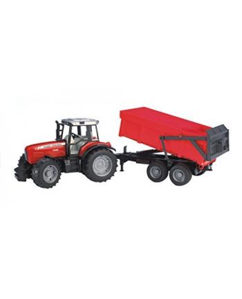 Traktor Massey Ferguson 7480 z przyczepą wywrotką 02045 BRUDER