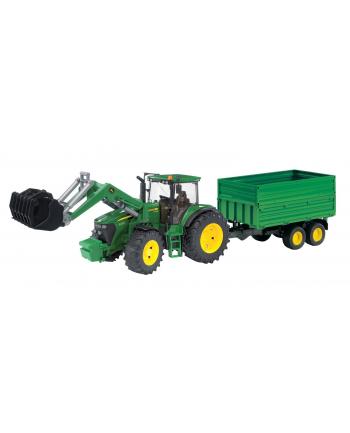 Traktor John Deere 7930 z ład. i przyczepą 2-osie BRUDER