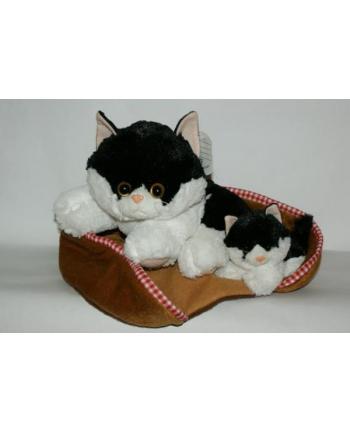 Kot 34cm biało-czarny.  MADEJ