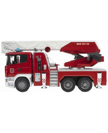 Scania R straż pożarna z pompą wodną 03590 BRUDER