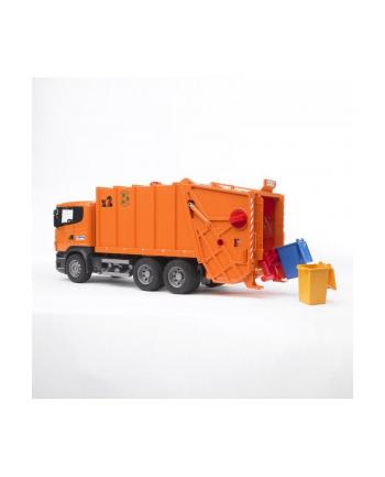 Scania R Śmieciarka pomarańczowa 03560 BRUDER