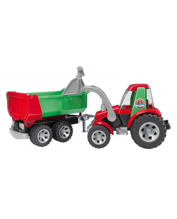 Roadmax Traktor z ładowarką i przyczepą BRUDER