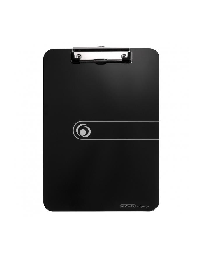Deska z przyciskiem A4 czarna. HERLITZ
