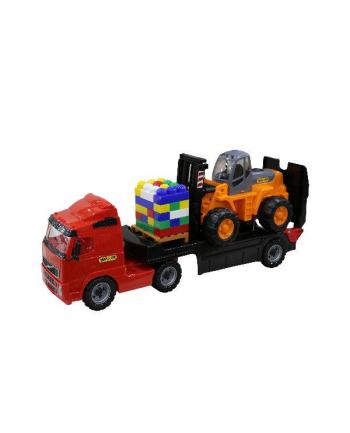 Polesie WADER 36797 Ciężarówka niskopodwoziowa + wózek widłowy w siatce
