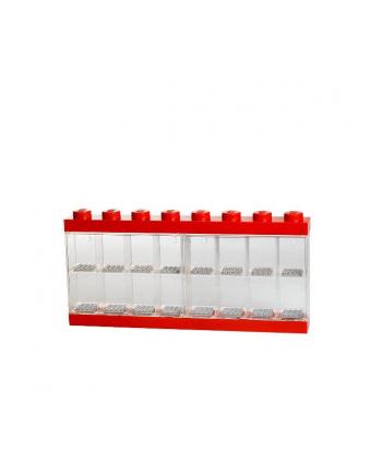 Pojemnik LEGO na 16 minifigurek czerwony