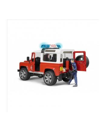 Land Rover Defender Straż Pożarna z figurką (02802) 02596 BRUDER
