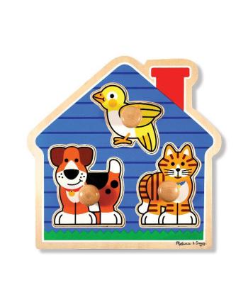MELISSA Puzzle dom zwierzęta Large Peg 12055