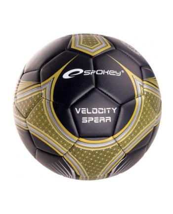 Piłka nożna VELOCITY SPEAR czarno-złota 835915 SPOKEY
