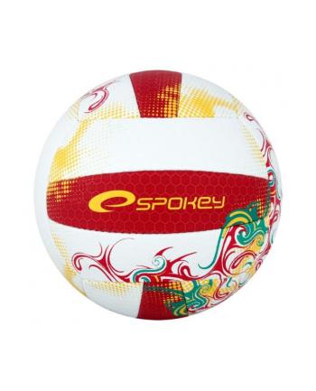 Piłka siatkowa czerwono-żółta  EOS 837386 SPOKEY