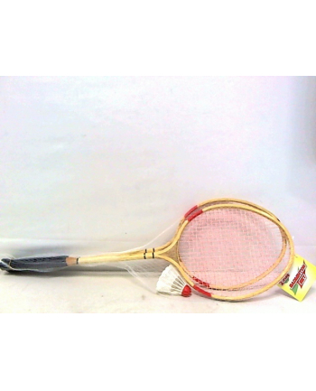 Badminton bambusowy 65cm z lotką w siatce 720118 HIPO