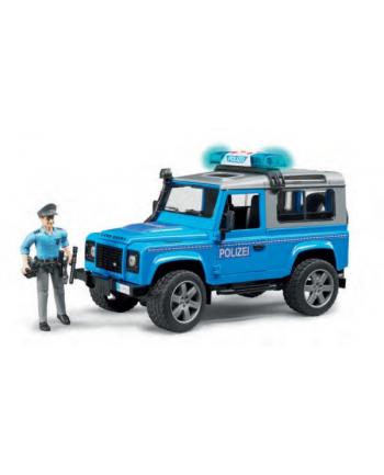 Land Rover Defender policyjny z figurką i modułem 02597 BRUDER