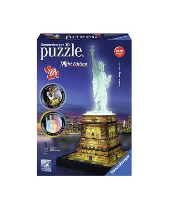 Puzzle 3D Statua Wolności, noc 125968 RAVENSBURGER