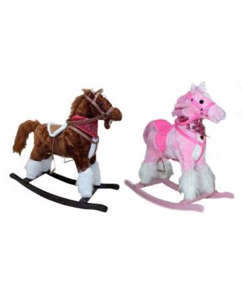 Koń na biegunach mix (2 róż, 4 brąz) p6