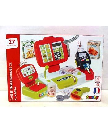 Kasa elektroniczna czerwona w pud. 350107 SMOBY