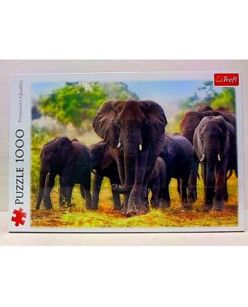 Puzzle 1000el Afrykańskie słonie 10442 Trefl