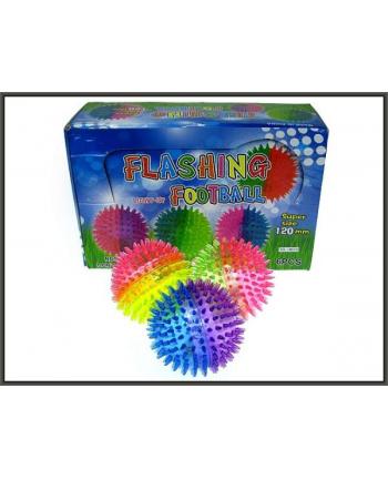 Piłka z kolcami przeźroczysta 12cm ze światłem p6 HIPO