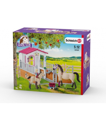Schleich 42369 Zagroda dla koni Stajenny + arabski