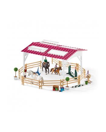 SLH 42389 Szkoła jeździecka z jeźdźcami i końmi