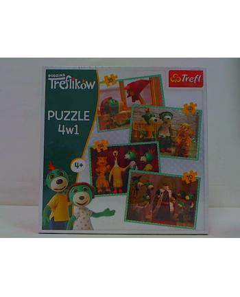 Puzzle 4w1 Trefliki Nowi przyjaciele 34290