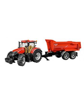 Traktor Case IH Optum 300CVX z przyczepą Krampe