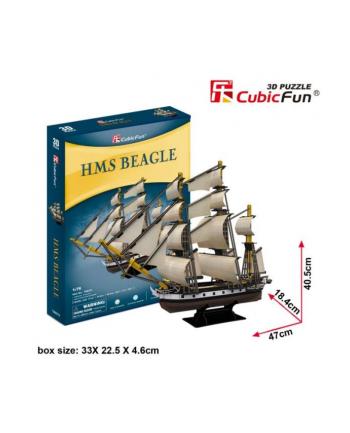 Puzzle 3D Żaglowiec HMS Beagle 16el.