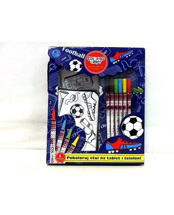 Zestaw Football - etui na tablet i telefon + 6 markerów w pud. STN-34-12