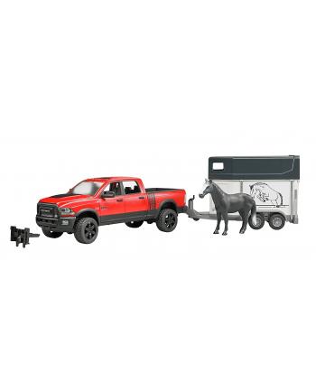 Dodge Ram 2500 Power Wagon z przyczepą dla konia 02501 BRUDER