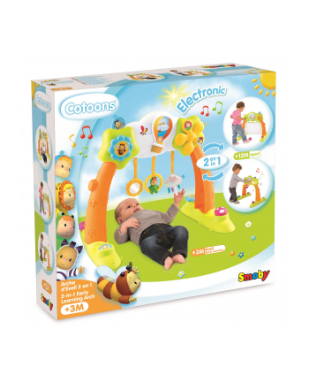 Cootons Zabawka 2w1 pałąk edukacyjny w pud.