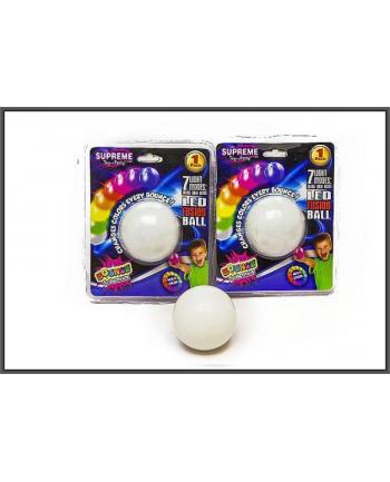 Piłeczka 6cm światło LED 7kol blister HIPO