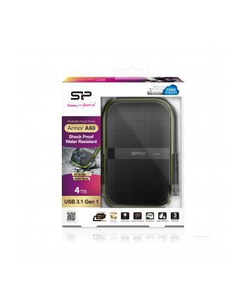 Dysk zewnętrzny Silicon Power Armor A60 2.5'' 4TB USB 3.0, IPX4, Czarny