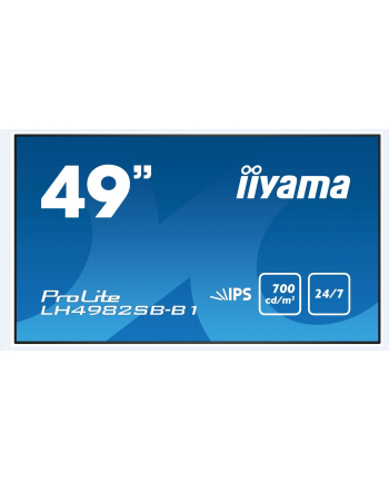 IIYAMA 49'' LH4982SB-B1 IPS,OPC SLOT,LAN,VGA,HDMI,DP,USB