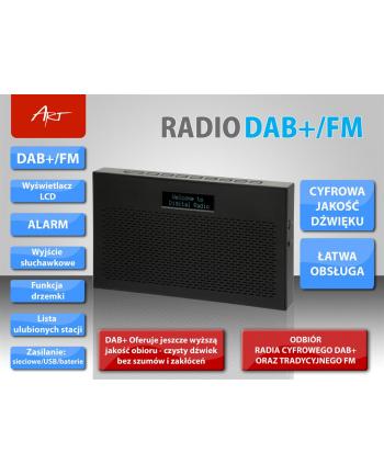 ART RADIO DAB+/FM AZ1000 wyświetlacz LCD czarne