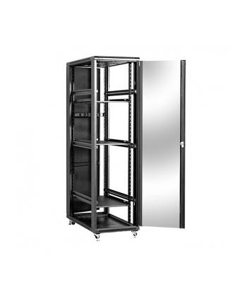 Szafa stojąca 19 47U 600x1000mm                        (drzwi szklane, 4xwent., 3xpolka, 1xlistwa) NCB47-610-BAA-C
