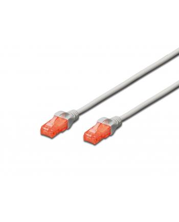 Patch cord nieekranowany U/UTP Kat.6 AWG 26/7 miedź LSOH szary 0,25m