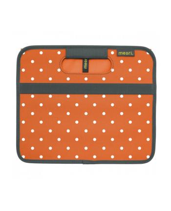Skrzyneczka w kropki, rozkładana, wielofunkcyjna, rozmiar S, mandarynkowy pomarańcz