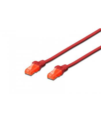 Patch cord nieekranowany U/UTP Kat.6 AWG 26/7 miedź LSOH czerwony 5,0m