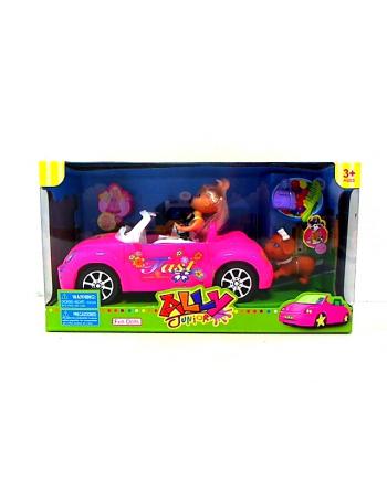 Auto 20cm z lalką 10cm i psem HIPO