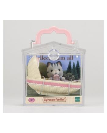 Sylvanian Families Przenośny zestaw dla dziecka (kotek w kołysce)