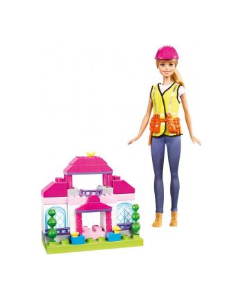 Barbie Lalka Budowniczy + klocki Zestaw Ast.