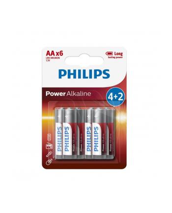 Bateria PHILIPS LR6 ALKALICZNA 6szt/blister