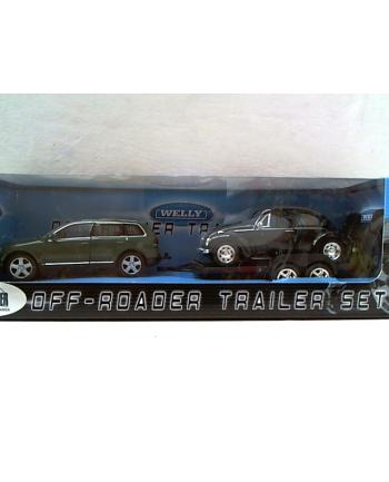 WELLY dwa samochody/laweta 97222