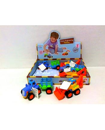 Traktorek kolorowy 6szt/disp BA3097