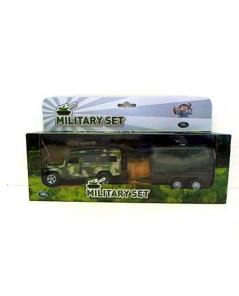 Land Rover wojskowy z przyczepą HKG081