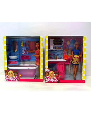 Barbie lalka w łazience lub w kuchni DVX51 /2