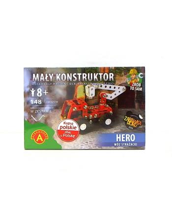 Mały konstruktor Hero wóz strażacki 15553